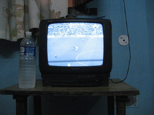 Satellite TV, On a Black and White TV