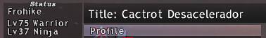 Cactrot Deascelerador