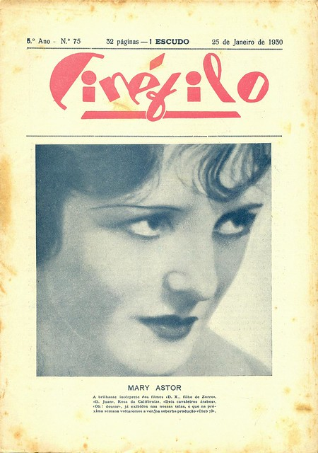 Cinéfilo, n.75, January 25, 1930 - cover