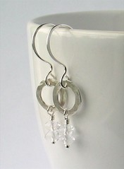 Rock crystal & silver earrings