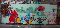 4/25/07 Free Wall (sixheadedgoblin) Tags: rain washington spray olympia roller dada publicart imp olympiawashington kix freewall recurring11deadbirds recurring27113