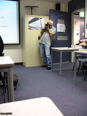 Richard taking photos at SDP presentation 1
