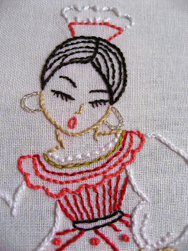 closeup on finished Spanish girl