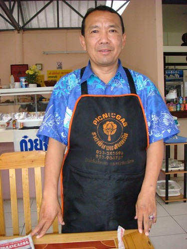 The chef of my favourite noodle shop in Chiang Mai...