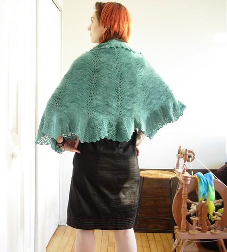 Back View of the Bloom Shawl