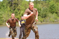 Two Fort Riley soldiers compete in the 2005 Best Ranger Competition