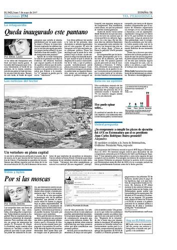 'Lo prometido es deuda' en El País del 7 de mayo de 2007