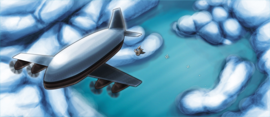 DSG 1242: Sci-Fi: JETBIKES ARE EJECTED OUT THE BACK-DOOR OF AIRBORNE CARGO PLANE