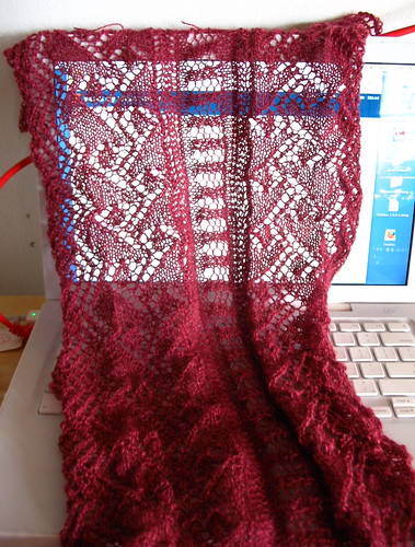 close up lace scarf w/ #20 edging