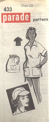 Tunic, hat, beach bag pattern