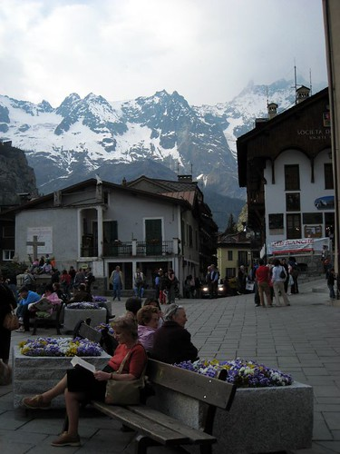 Courmayeur - Italian town at the foot of Mont Blanc (Monte Bianco)