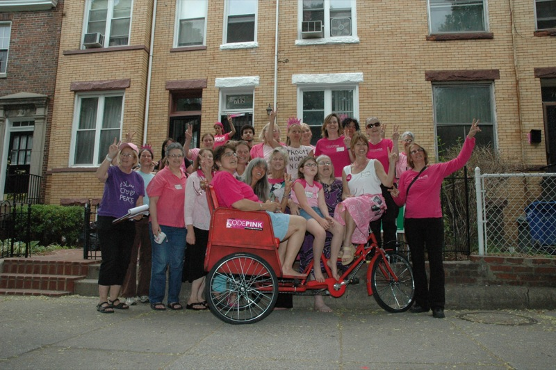 Click on the photo to see a slideshow of Pink House and DC CODEPINK action photos!