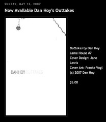 Outtakes Dan Hoy Lame House Press BUY IT NOW