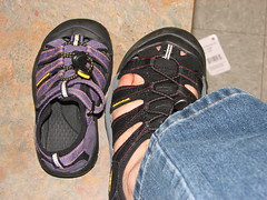 My Keen sandal with a baby Keen