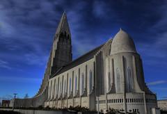 Hallgrímskirkja (Karnevil) Tags: church iceland religion reykjavik hdr hallgrímskirkja leiferikson blueribbonwinner flickrsbest abigfave anawesomeshot goldenphotographer