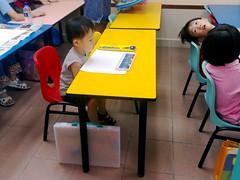 Isaac at his art lesson