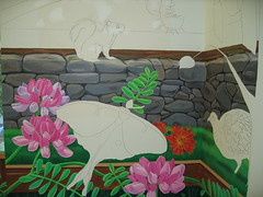more flowers 003 (chelmsfordpubliclibrary) Tags: usa wall ma mural library libraries massachusetts childrens mass cpl chelmsford dimensional chelmsfordpubliclibrary chelmsfordlibrary yettifrenkel stevemaloney