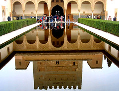 Granada, Spain: Islamic Garden 2 (Sir Cam) Tags: west water garden spain alhambra moorish granada moors muslims islamic arabs patiodelosarrayanes courtofthemyrtles superaplus aplusphoto diamondclassphotographer islamicgarden