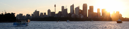 Sunset over the Sydney skyline