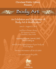 Body Art flyer