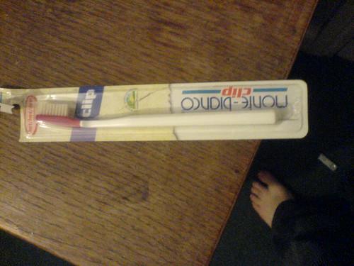 green toothbrush