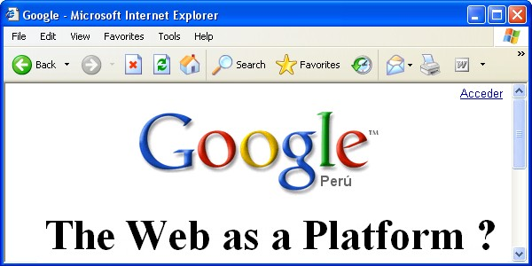 The Web as a Platform