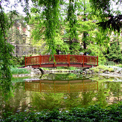 Botanical Garden Zagreb (felber) Tags: bridge trees lake reflection tree green water garden croatia zagreb botanic botanicalgarden croatie kroatien 5for2 favoritegarden