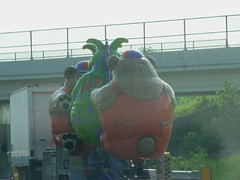 Carnival animals on the expressway
