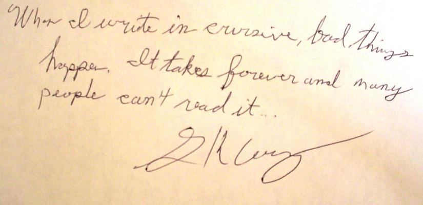 print and cursive writting