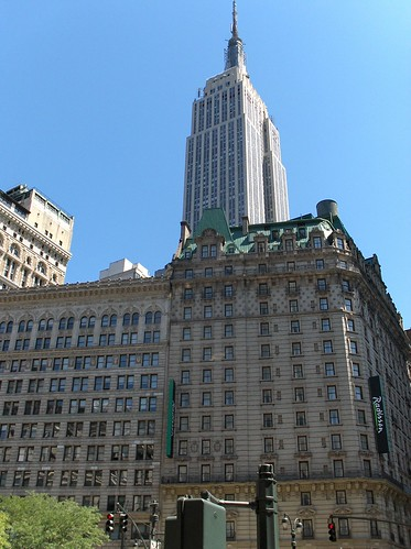 Empire State Building and Radisson Hotel Martinique; New York City