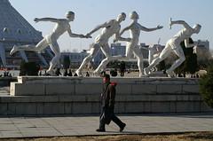 Relay race (Moravius) Tags: pyongyang dprk relayrace   chollimastreet