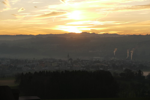 Hochdorf at sunset / Switzerland