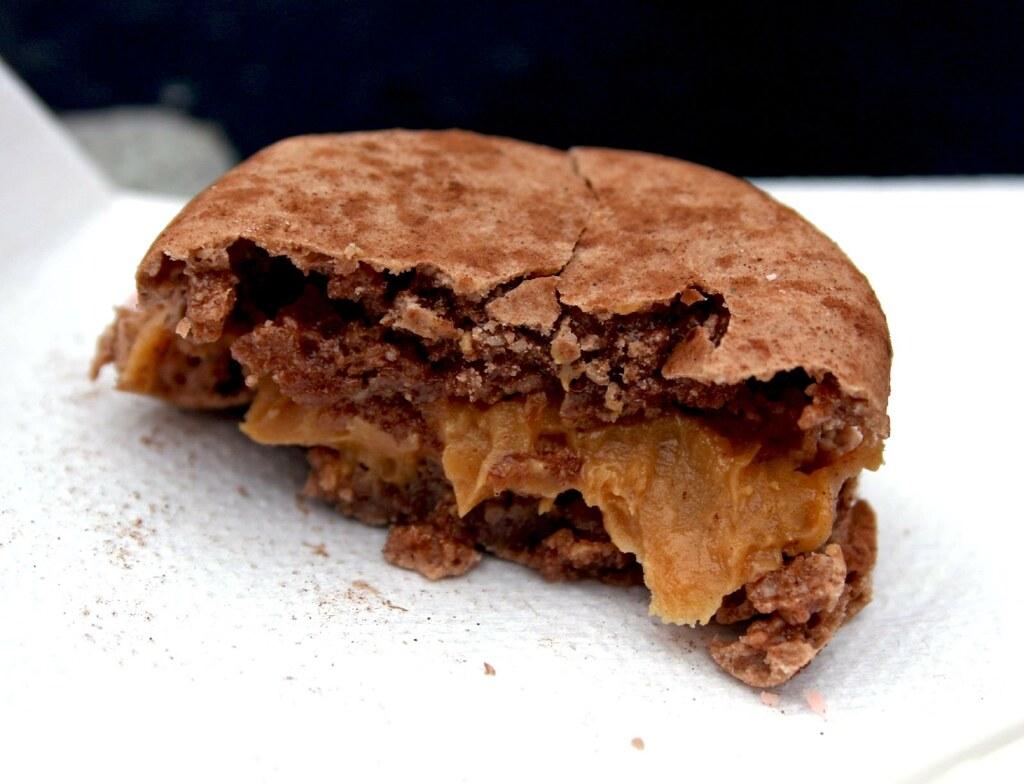 Peanut Butter Macaron innards