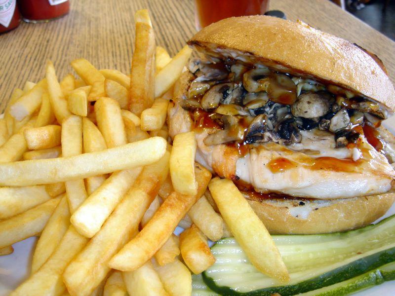 Teriyaki Chicken & Mushroom Sandwich