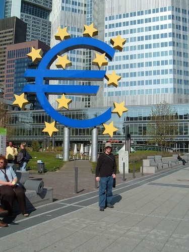 Todd in front of the European Central Bank, Frankfurt