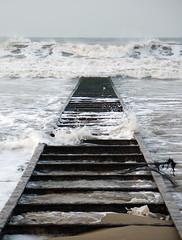 Tracks to Nowhere (Bobshaw) Tags: sea beach water sand tracks steetley steetly