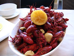Spicy boiled crawfish