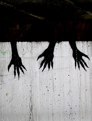 claws (estherase) Tags: uk blackandwhite london 1025fav scary hands stencil findleastinteresting explore guesswherelondon londonguessed myfave claws myfaves emssimp gwl limehousecut ngt guessedbybravo99 redbubble estheresque esthersfaves scarycreepyorsurreal 250311