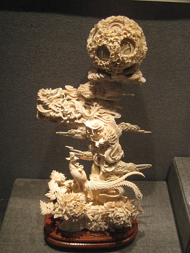 Intricately carved ivory at the Chen Family Temple