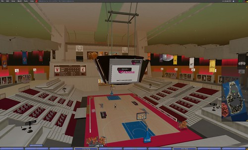 NBA stadium in Second Life