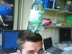 bottle on the head