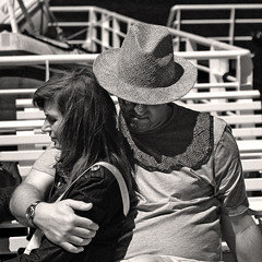 Together (DarkFrame) Tags: bw italy hug italia nikond70s together insieme procida ferryboat traghetto abbraccio 123bw 50club gentedimare anawesomeshot