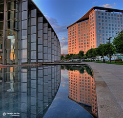 Reflections and symmetries (Salva del Saz) Tags: sunset espaa valencia architecture reflections atardecer spain arquitectura bravo olympus symmetry hdr highdynamicrange reflejos c8080wz simetria supershot magicdonkey flickrsbest abigfave colorphotoaward copyrightedmaterial salvadordelsaz superbmasterpiece salvadelsaz goldenphotographer flickrdiamond dontpiratemyphotos 2007salvadordelsaz