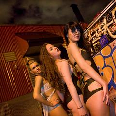 recipe for causing a scene (sgoralnick) Tags: street urban fashion brooklyn graffiti canon20d models williamsburg van swimsuit swimwear canonef1635mmf28lusm stitchproject thestitchproject canonef1635mmf28liiusm