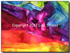 Fabric Rainbow (Lisa-S) Tags: blue red orange green art yellow canon rainbow purple 1987 lisas vivid explore fabric quilting allrightsreserved rumpled invited quiltshow handdyed themoulinrouge tiedyed i500 interestingness333 s3is canons3is mywinners colorphotoaward colourartaward vividmasters artlegacy thegardenofzen thegoldendreams bramptoncityhallexhibition getty2009 soldongetty copyrightlisastokes getty20090217