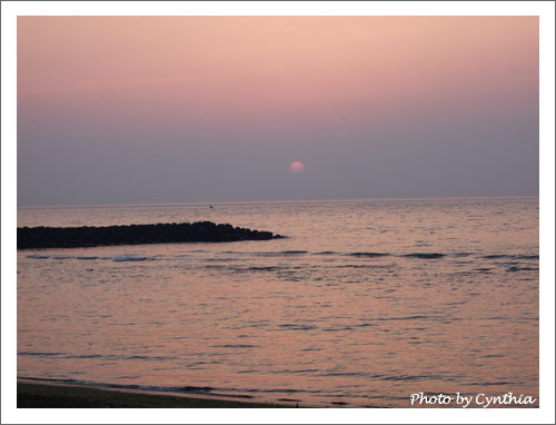 夕陽漸漸落下