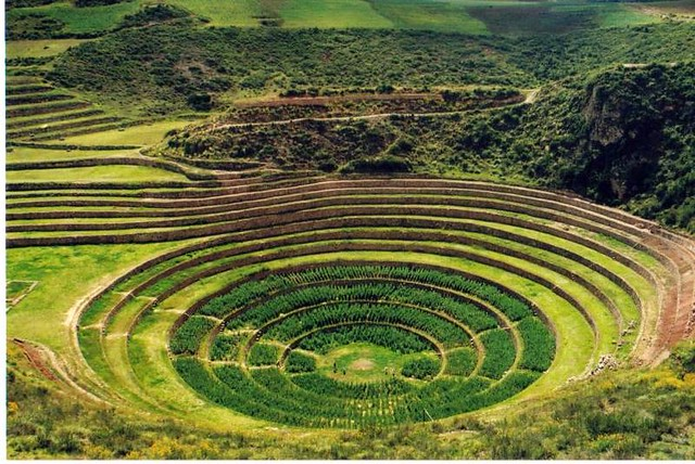 Moray--circular terraces Cusco, Peru