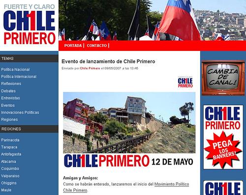 Chile Primero - ricardoroman.cl