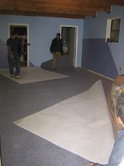 Laying Down the New Master Bedroom Carpet