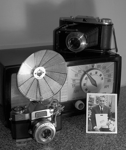 My Dad, Old Cameras & Radio B&W